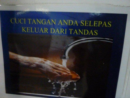 4. Posters all over re washing hands