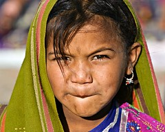 Tribal Girl 1 (Jayanand) Tags: india gujarat kutch littlerann