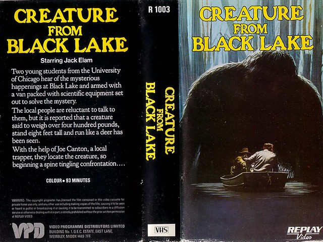 CREATURE FROM BLACK LAKE (VHS Box Art)