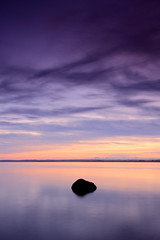Ards rock minimal portrait (DaveMurdoch... time to catch up!!) Tags: longexposure sunset seascape rock minimal ni newtownards strangfordlough codown canon40d