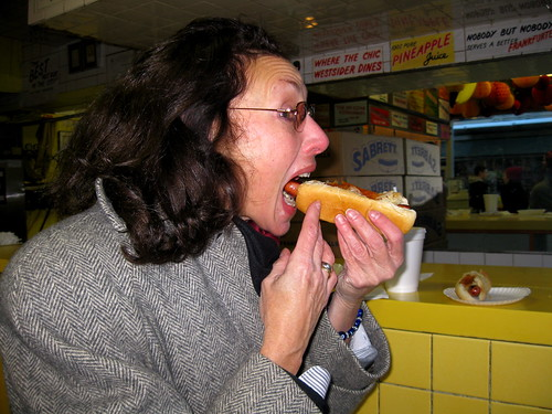 Mary Eats Gray's Papaya