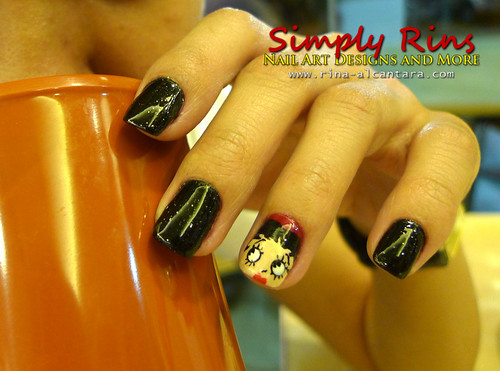 Valentines Nail Art - Betty Boop 05