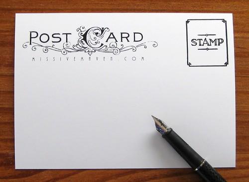 Postman postcard, back