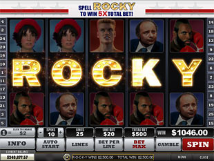 free Rocky slot bonus game 2