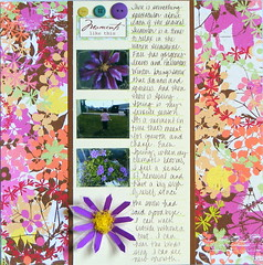 """""""Moments Like This"""" LOAD211 Day 15 (EcoScrapbook) Tags: flower scrapbook spring seasons clematis 12x12 load15 load211"""