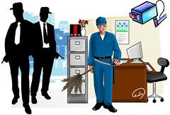 موظفو الأمن .. عمال نظافة وغسيل السيارات..بسبب تدني الرواتب وتحكم الإدارة