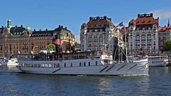 The archipelago ship Waxholm III in Stockholm (Franz Airiman) Tags: strommacom strömma strömmakanalbolaget waxholmiii nybroviken nybrobay stockholm sweden scandinavia strandvägen boat båt ship fartyg