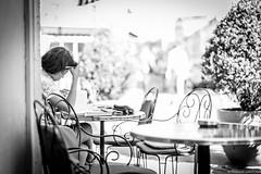 A la terrasse (Maestr!0_0!) Tags: noir blanc black white rue street people candid paris canon eos 6d