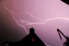 The crawler (amanda.fotogaaf) Tags: crawler lighting thunder storm pink view nightshot longexposure exposure weather