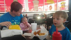 """Daddy, Dani, and Paul Eat at Burgerboard in Jacksonville • <a style=""""font-size:0.8em;"""" href=""""http://www.flickr.com/photos/109120354@N07/35529641242/"""" target=""""_blank"""">View on Flickr</a>"""