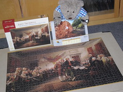 Happy 4th of July! (pefkosmad) Tags: pomegranate jigsaw puzzle 1000pieces complete leisure pastime hobby painting art johntrumbull independenceday declarationofindependence new unused