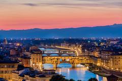 The Ponte Vecchio, Florence Italy (les.butcher) Tags: ponte vecchio medieval stone closedspandrel segmental arch bridge arno river florence italy jewellers art dealers souvenir sellers