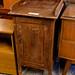 Dark wood stained single door washstand E30