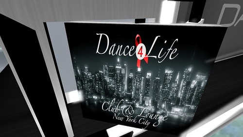 dance4life signage at club