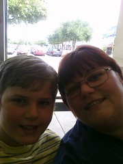 Hangin' at the kid hair cut place waiting on Cassie