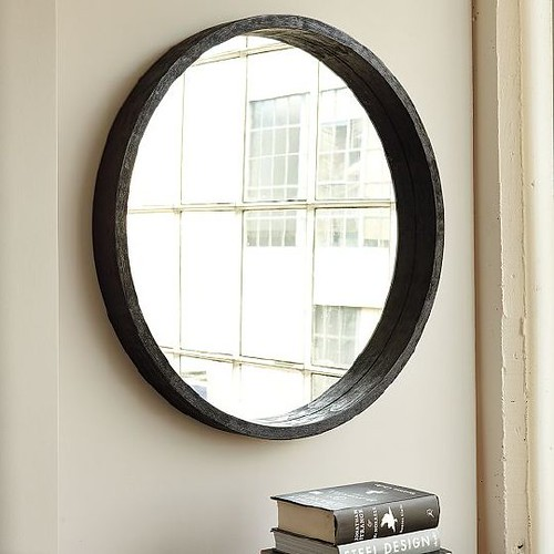 WEST ELM ROUND MIRROR