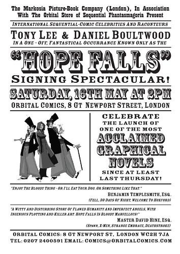 Hope Falls Signing Poster