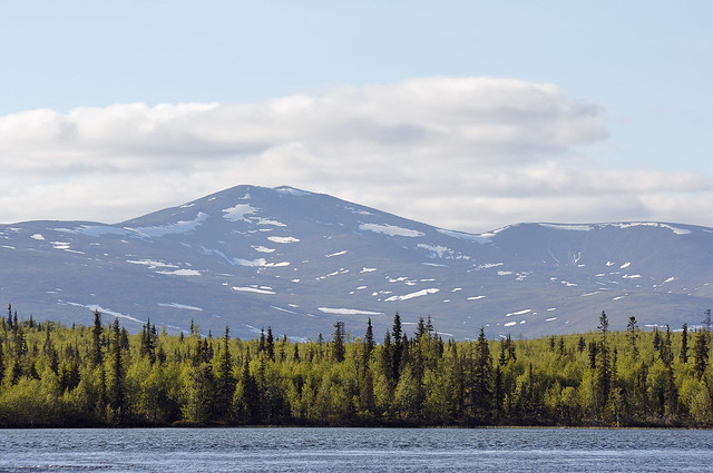 Khibiny view from Umba river