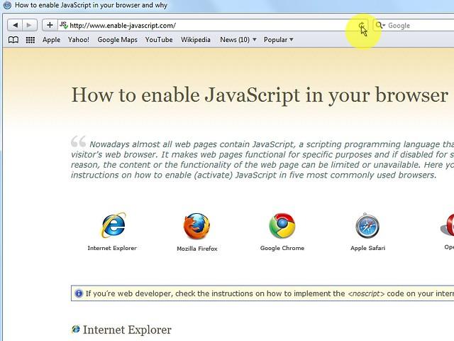 """Infine clicca sul pulsante del browser """"Reload the current page"""" per aggiornare la pagina."""