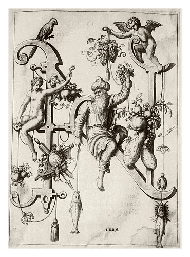 013-Letra N- el sabio Natham-Neiw Kunstliches Alphabet 1595- Johann Theodor de Bry