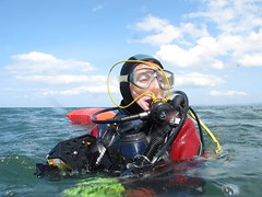 surfaced (squeezemonkey) Tags: sea diver reel smb anglesey surfaced puffinisland ukdiving holborndiver questdiving