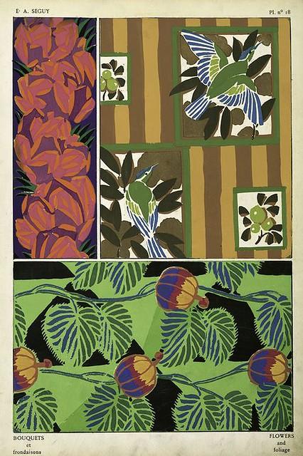 015-Bouquets et frondaisons. 60 motifs en couleur- Eugene Alain Seguy