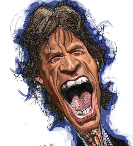 digital caricature of Mick Jagger - 2