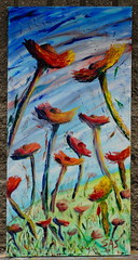 A Gift for the Giver (floral landscape) 30 x 15 in. Oil on Canvas (stevenascroggins) Tags: flowers original abstract art modern happy contemporary canvas oil scroggins betterplace