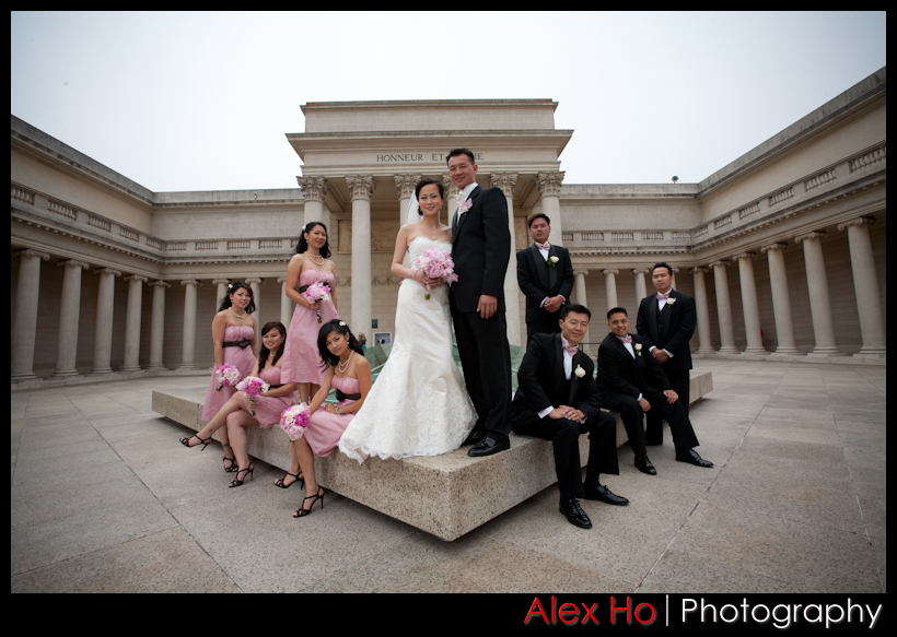 legion of honor san francisco bridal party wedding