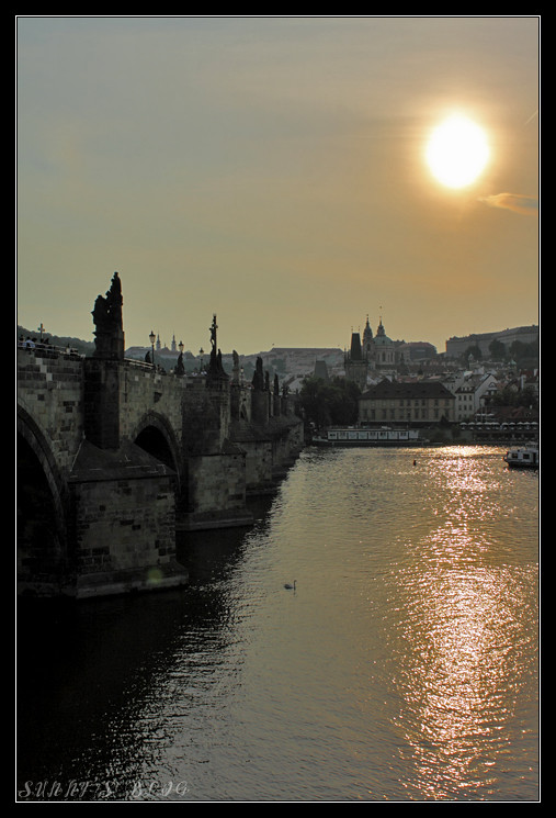 Charles Bridge at Sunset 1