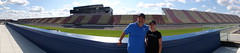 Panorama of Amanda and I at Michigan International Speedway