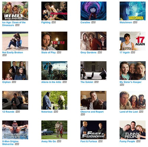 Fancast Xfinity tv Movies 2009-2010 HD