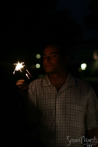 Dustin with Sparklers