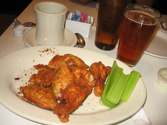 Dusty wings, beer, and coffee