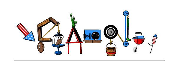 Google July 4th Logo 1