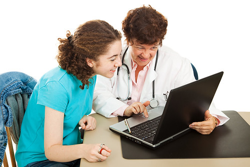 Doctor and Patient with PHRs