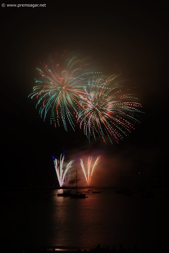 Independence day fireworks display