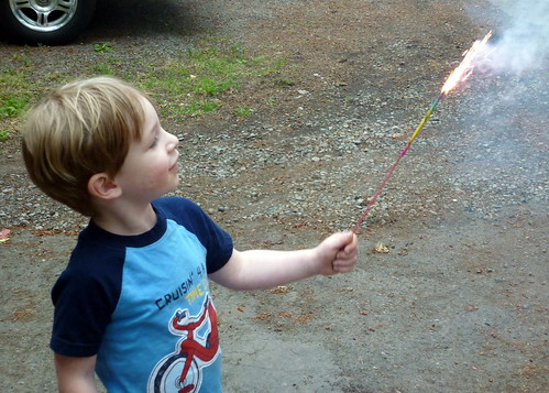 Zane and the Sparkler