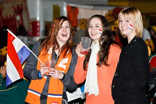 Dutch Oranje fans in Jozi