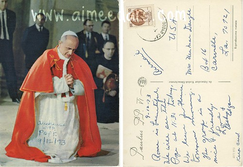 POSTCARD: The Pope