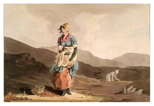 019-Jovenes recogiendo arandanos-The costume of Yorkshire...1814- George Walker