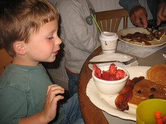 Gabe at Breakfast