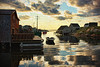 Reflective at Peggy's (sminky_pinky100 (In and Out)) Tags: travel houses canada texture tourism reflections landscape boats evening fishing pretty novascotia village harbour jetty scenic huts deck peggyscove aboutyou omot losterpots heavensshots