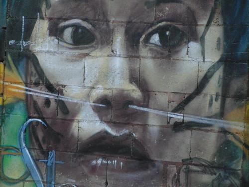 graffiti en puerto colombia (choroní, venezuela)