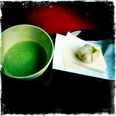 #2 (yocca) Tags: summer food wow tea  teaceremony matcha greentea confectionery 3gs 2010 iphone   japanesetea    july2010 hipstamatic