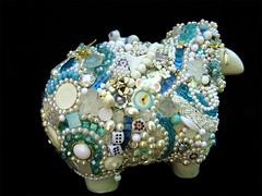 Diva Dolly going (Moe's Ache) Tags: sheep mosaic whimsical ache cappi moesache