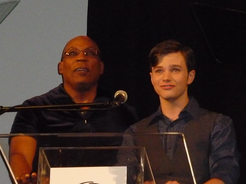 Paris Barclay and Chris Colfer at Outfest 2010 by you.