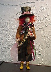 Mad Hatter in porcelain by Mary Kinloch (MSAT Dolls)