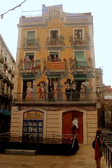 Fassadenmalerei in Tarragona, Katalonien