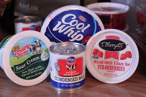 CoolWhip, Sour Cream, Condensed Milk